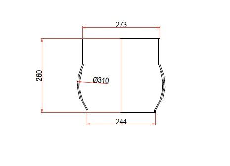 boca circular DN273