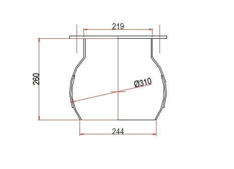 boca circular DN219