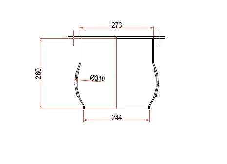 boca circular DN 273
