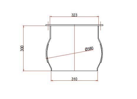 boca circular DN323